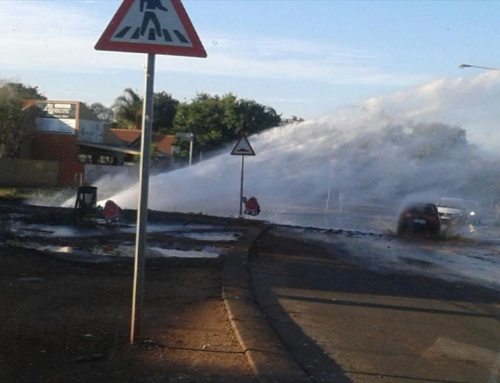 WATCH: Centurion burst pipe spews gallons of water | Centurion Rekord